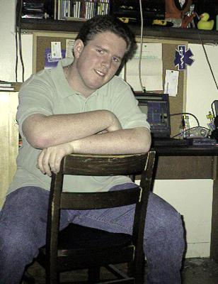 Me in my dormitory room at Marshall University.