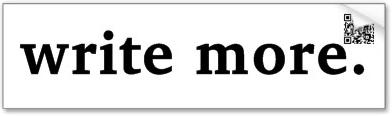 write more.