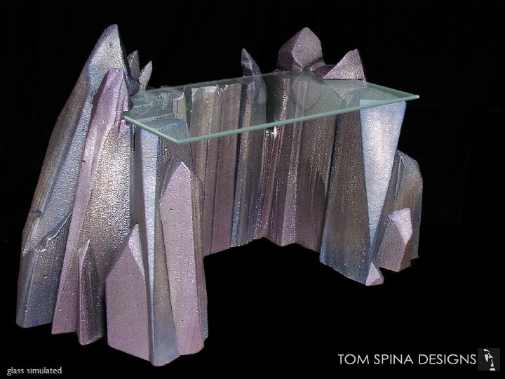 Sci Fi Desk Crystal Themed Custom Furniture Tom Spina Designs
