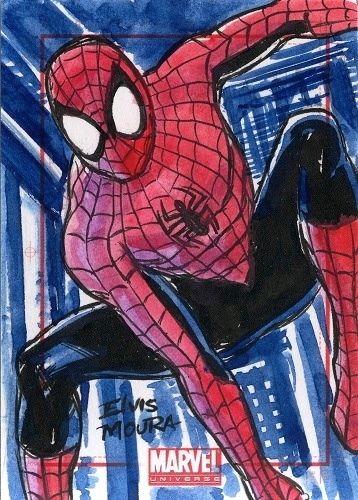 Spiderman Sketch Card