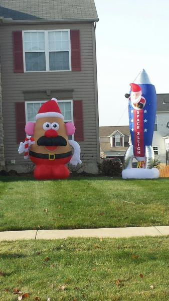 Christmas Decorations Right Outside Our House