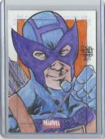 Sketch Card of Hawkeye