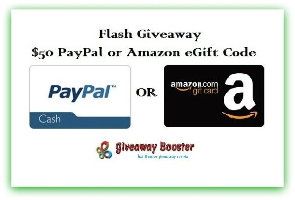 $50 Amazon or PayPal Giveaway 48 hours only! Ends 5/3