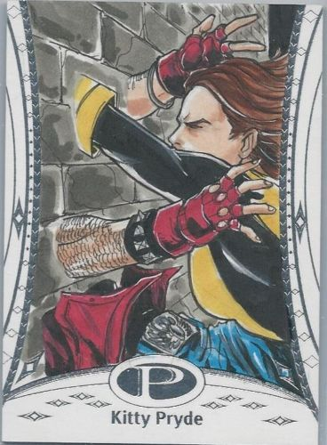 2014 Marvel Premier Sketch Card of Kitty Pryde by Vince Sunico