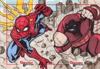 2013 Marvel Greatest Battles Marco David Carrillo sketch card - Sketch Card Artist of the Day over at A Medic's World come check out the site and leave some comments ~Tom