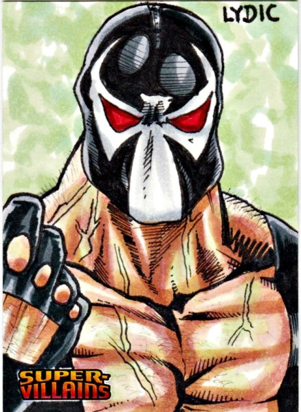 2015 DC Comics Super Villains Sketch Card Bane by Steve Lydic Sketch Card Artist