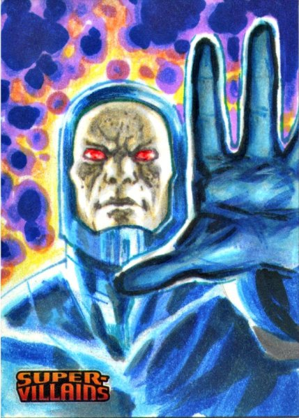 Apocalypse Superman AP Sketch Card DC Super villains by Fabian Quintero Sketch Card Artist