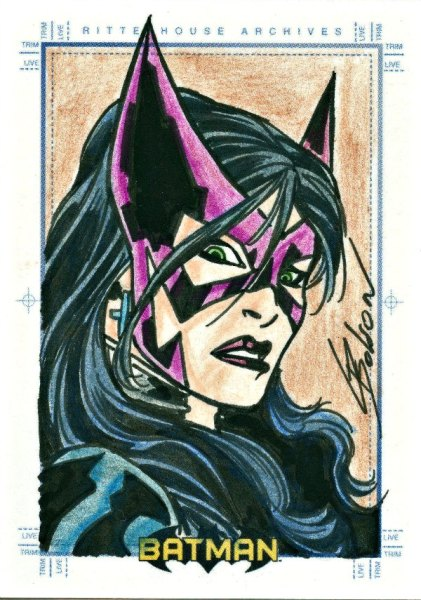 Sketch Card Artist of the Day 7/6/15 – Artist Chris Bolson #huntress #dccomics #batman