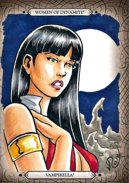 2014 SDCC WOMEN OF DYNAMITE SKETCH CARD VAMPIRELLA Artist Jason Reed