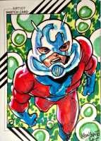 2015 FLEER RETRO Ant-Man MARVEL ANT-MAN SKETCH CARD BY GILBERT MONSANTO