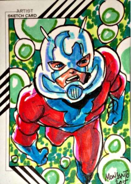 2015 FLEER RETRO Ant-Man MARVEL ANT-MAN SKETCH CARD BY GILBERT MONSANTO