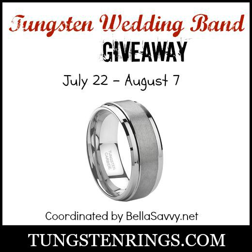 Tungsten Wedding Band Giveaway Ends 8/7 Good Luck from A Medic's World