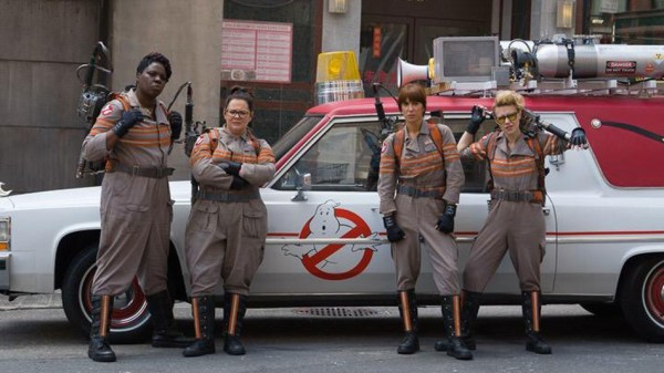 All women Ghostbusters crew with first look at new uniforms