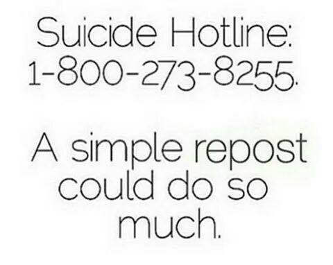 @800273TALK National Suicide Prevention Lifeline #suicideprevention #help