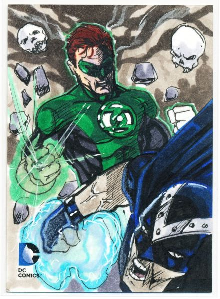 Sketch Card Art of the Day Green Lantern drawm bu John Johnston Fantastic Card