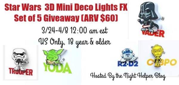 Win 5 3D Mini Deco Star Wars Lights Ends 4/8 Good Luck from Tom's Take On Things