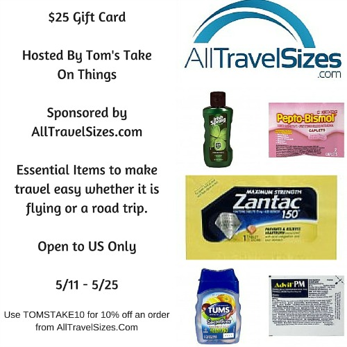 $25 AllTravelSizes.com Gift Card Giveaway – Travel With Ease