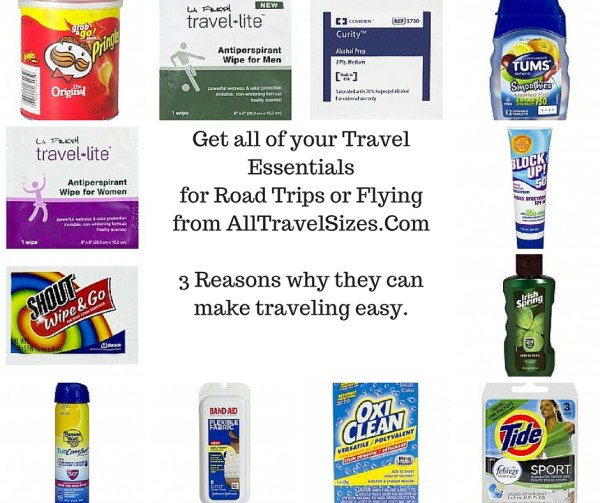 Get all of your Travel Essentials for Road Trips or Flying from AllTravelSizes.Com No. 2