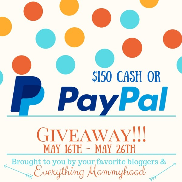 We are giving away $150 Cash or $150 PayPal to one lucky winner!! Ends 5/26