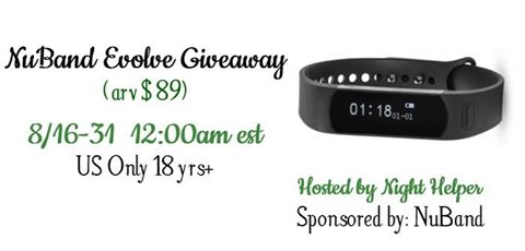 NuBand Evolve Giveaway ~ Get serious about working out ends 8/31 Good Luck from Tom's Take On Things