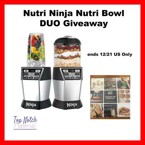 Win a Nutri Ninja Nutri Bowl DUO Blender