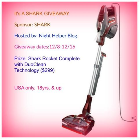 Shark Rocket Complete Vacuum Giveaway