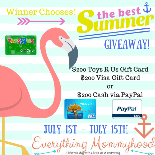 Best Summer Fun Giveaway ~ Win a $200 Toys R Us or Visa Gift Card Ends 7/15