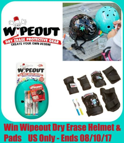 Wipeout Dry Erase Kids Helmet and Safety Pads Giveaway Ends 8/10