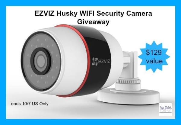 EZVIZ Husky outdoor wifi security camera Giveaway Ends 10/7
