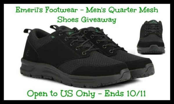 Emeril Lagasse's Men's Quarter Mesh Shoes Giveaway Ends 10/11