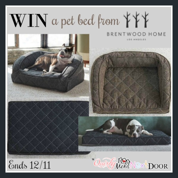 Brentwood Home Pet Bed Giveaway Ends 12/11