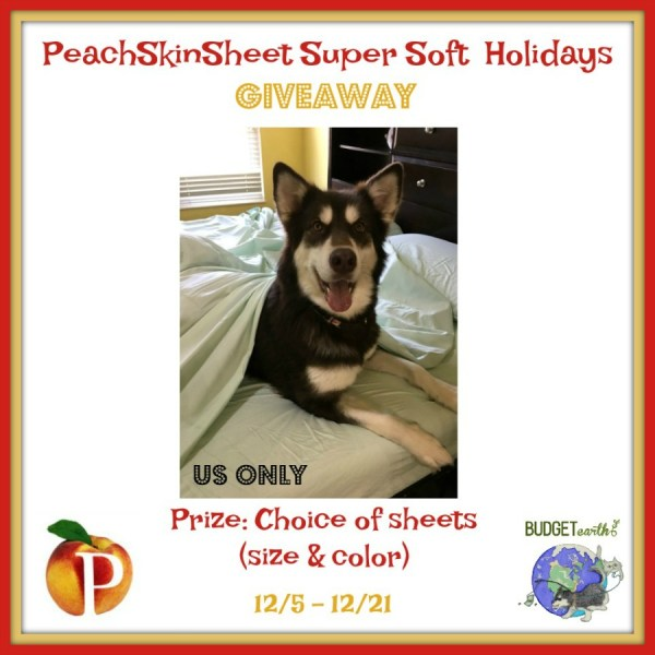 PeachSkinSheet Super Soft Holiday Giveaway Ends 12/21