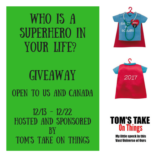 Who Is A Superhero In Your Life? Giveaway – Christmas Ornaments
