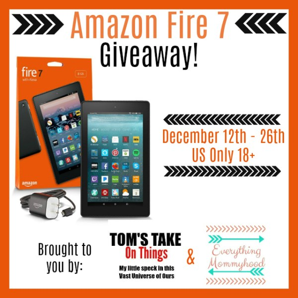 Stay Warm with the Amazon Fire 7 Giveaway Ends 12/26