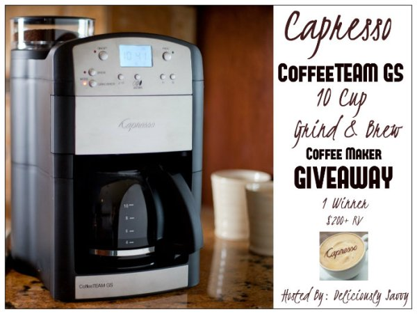 Capresso CoffeeTEAM GS 10 Cup Brewer Giveaway Ends 2/21 #coffee #giveaway #espresso