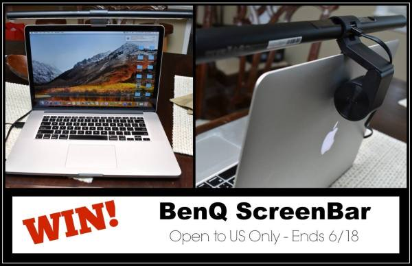 BenQ ScreenBar Lamp Giveaway - Ends 6/18 Great item to win for your laptop. See clearly when you work or play. Good Luck from Tom's Take On Things