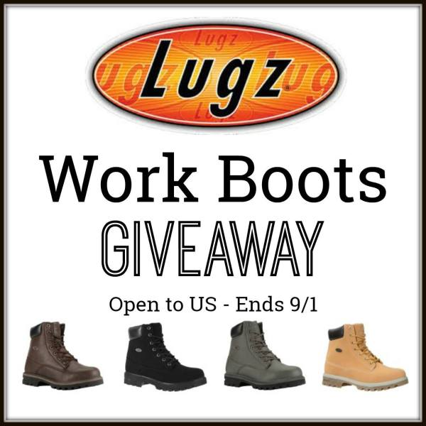 Lugz Work Boots Giveaway ~ Stay safe and be comfortable ~ This ends on 9/1 and Tom's Take On Things is happy to help promote this giveaway. Good Luck.