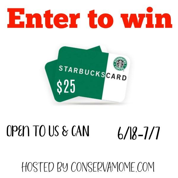 $25 Starbucks Gift Card Giveaway ~ Ends 7/7