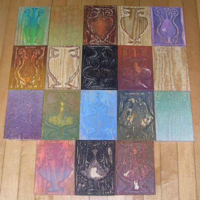 Tom Stella- 18 of 20 woodblocks