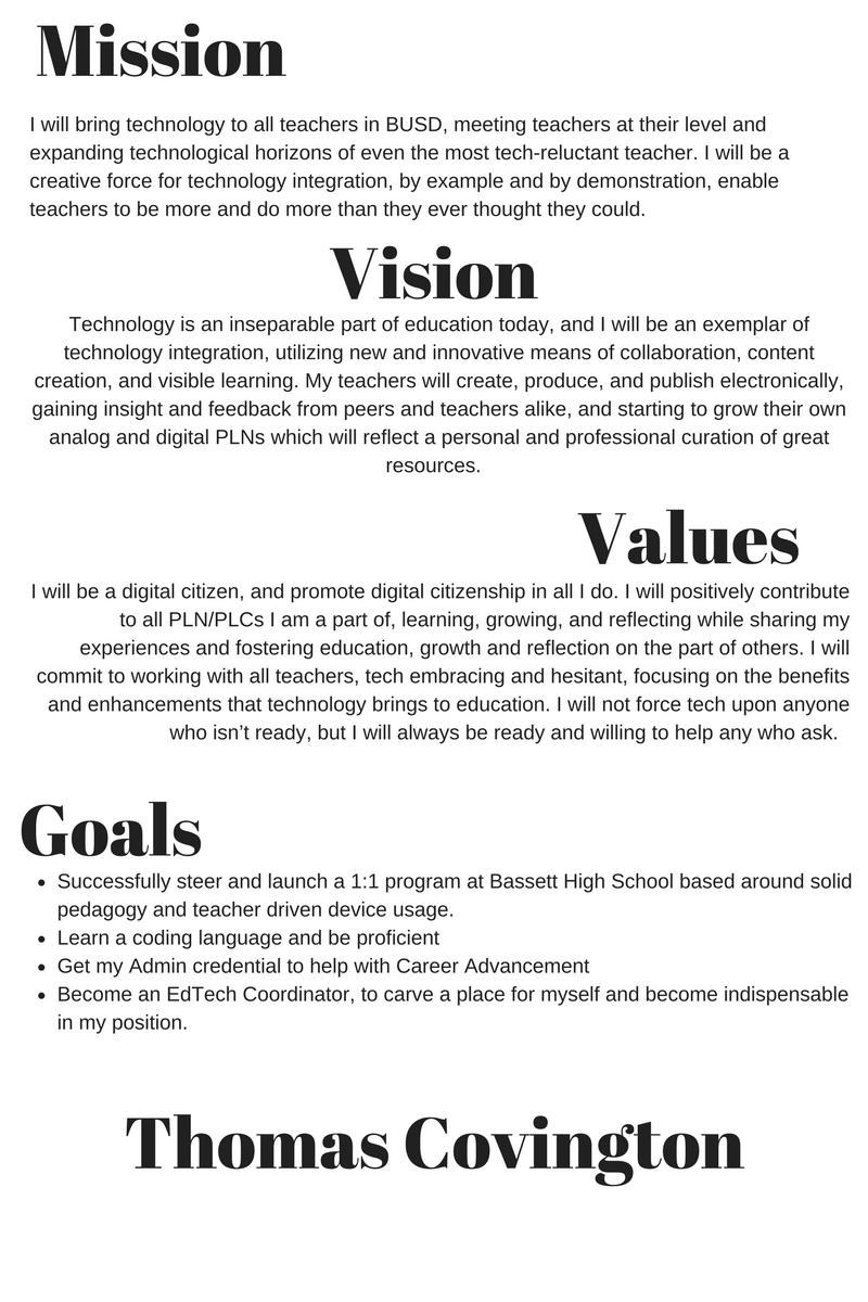 Chapter 6 Developing And Implementing A Vision Tom Talks About