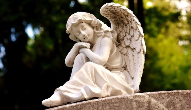 眠っている天使