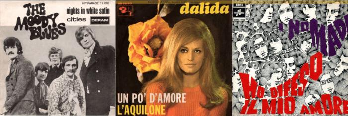 cover italiane: moody blues, dalida, nomadi