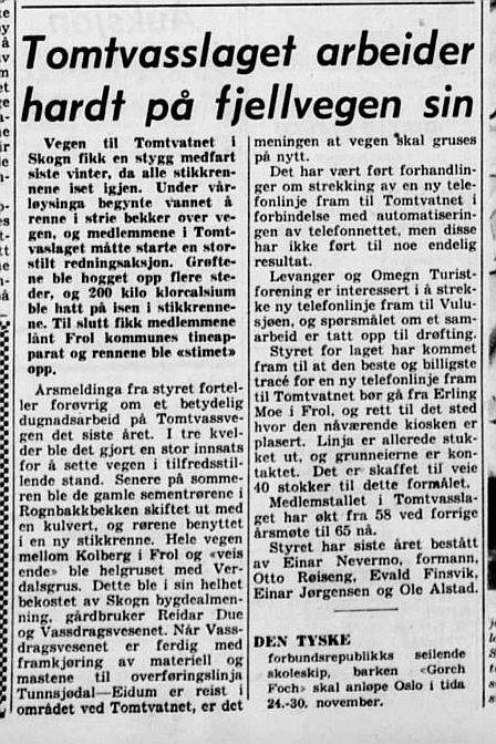 Veiarbeide 1960