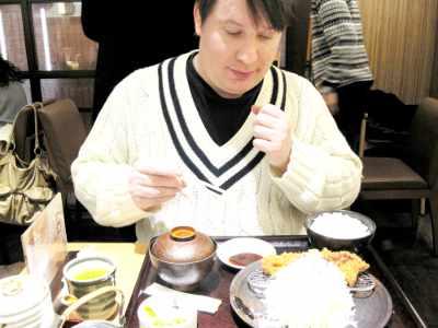 日本食-欧米人-とんかつ