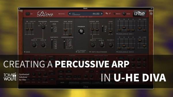 U-he Diva: How To Create A Percussive Arp