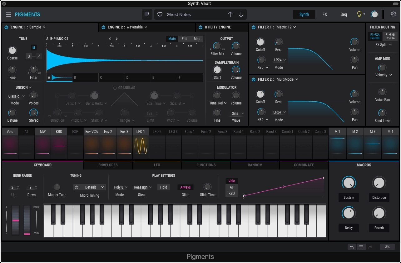 Synth Vault: Free Presets for Arturia Pigments