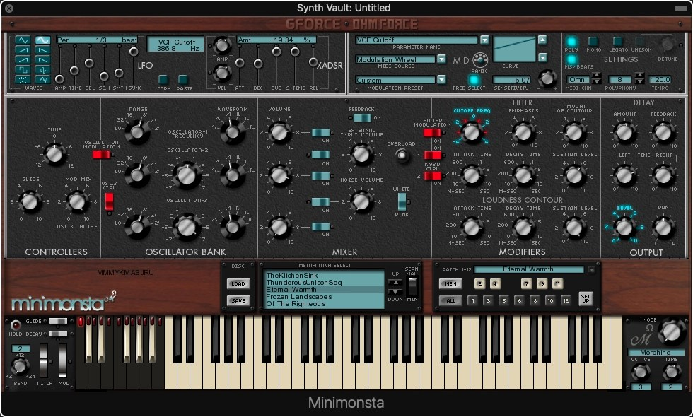 Synth Vault: Free Presets for GForce Minimonsta