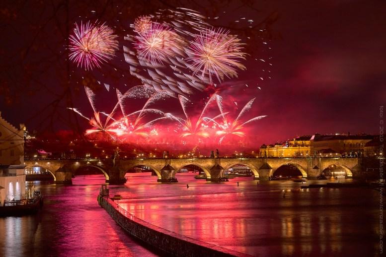 Novoroční ohňostroj Praha 2019
