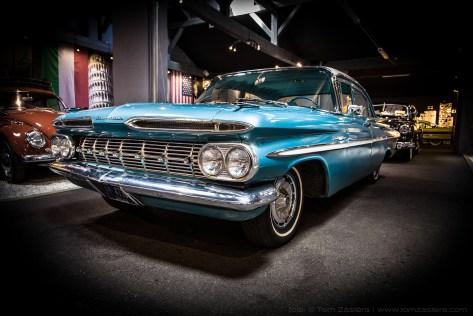 Modrý Chevrolet