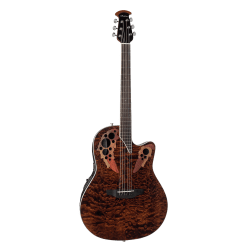 Ovation Guitars Celebrity Elite® Exotic CE44P-TGE Dark Tiger Eye On Exotic Quilted Maple